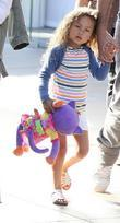 Halle Berry's daughter Nahla Aubry seen walking through...