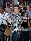 Chris Colfer  Celebrities outside ABC studios ahead...