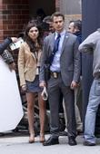 amanda setton and theo james on location for the tv