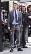 theo james on location for the tv pilot of golden b