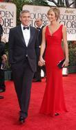 George Clooney, Stacy Keibler, Golden Globe Awards and Beverly Hilton Hotel