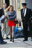 kaylee defer on the set of gossip girl in midtown m