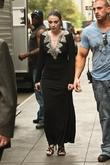 Michelle Trachenberg on the set of 'Gossip Girl'...
