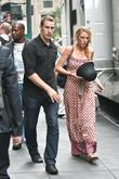 Blake Lively on the set of 'Gossip Girl'...