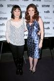 Angelica Huston and Debra Messing
