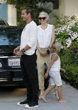 Gwen Stefani, Gavin Rossdale and Kingston Rossdale arrive...