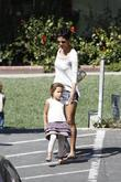 Halle Berry picking up her daughter Nahla Aubry...