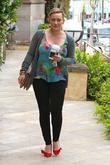 new mum hilary duff heads to the clinic santa monic
