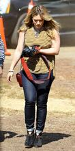 Hilary Duff  enjoys a day at Mr....
