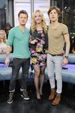 Nash Overstreet, host Liz Trinnear, and Ryan Follese...