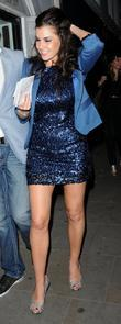 Imogen Thomas leaves Zefi restaurant in Fulham after...