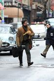 Oscar Isaac  on the set of 'Inside...