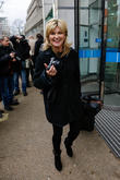 Andrea Turner at the ITV studios carrying a...