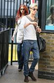 Amy Childs and Harry Derbidge outside the ITV...