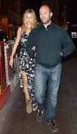 Jason Statham and girlfriend Rosie Huntington Whiteley spotted...