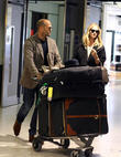 Jason Statham, Rosie Huntington-Whiteley, Heathrow Airport