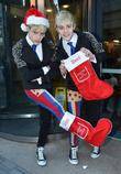 Jedward, Christmas, Today FM, Dublin, Ireland, Local Caption