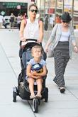 Jessica Alba leaving her hotel with her daughters...