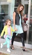 Jessica Alba with daughter Honor Marie Warren in...
