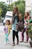 Jessica Alba with daughters Honor Marie Warren and...