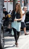 Jessica Alba  takes her daughters out to...