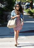 Actress Jordana Brewster seen out and about in...
