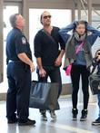 Jude Law, Iris, Rudy, Los Angeles International Airport