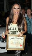Katie Price, Riverside Studios, Celebrity Juice. Katie and Long Service Award