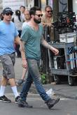 Adam Levine  on the set of 'Can...
