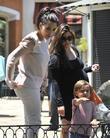 Kim Kardashian, Kourtney Kardashian and Mason