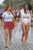 Kim Kardashian, Kourtney Kardashian and Kim Take Miami