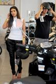 Kim Kardashian and Jonathan Cheban at a Vespa...