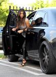 Kim Kardashian arrives at a cafe to get...