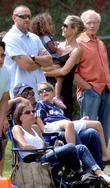 Martin Kristen, Heidi Klum and Lou Samuel