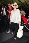 Kylie Minogue arriving at JFK International Airport on...