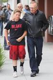 Larry King  seen with his son...