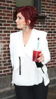 sharon osbourne at the the late show with david let