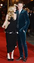 Amanda Seyfried and Eddie Redmayne at the premiere...
