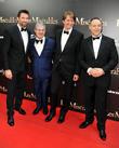 Hugh Jackman, Tom Hooper and Russell Crowe