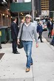 Dario Franchitti arrives at the Ed Sullivan theatre...