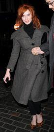 Christina Hendricks and London Fashion Week