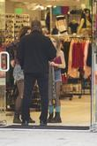 Lily-Rose Depp shops at American Apparel with a...