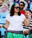 A fan at the Olympic Football Men's Preliminary...