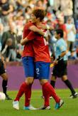 South Korean players celebrate their victory  The...