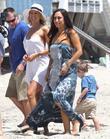 Kym Johnson, Cheryl Burke and Malibu Beach