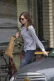 Mandy Moore is seen leaving Little Dom's restaurant...