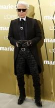 karl lagerfeld at the marie claire prix de la moda