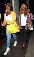 Alexandra Burke and her sister Sheniece outside the...