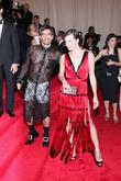 Milla Jovovich, Marc Jacobs and Metropolitan Museum Of Art