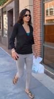 Actress Michelle Rodriguez  seen out and about...
